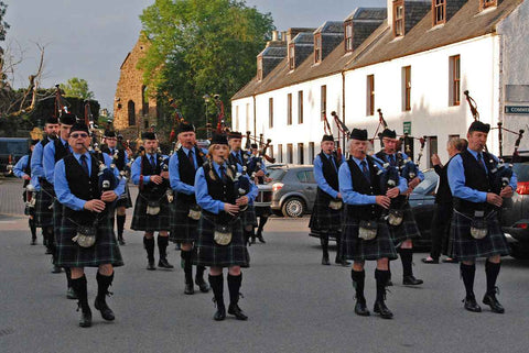 The Pipe Band plays in Beauly on Thursday evening in the summer