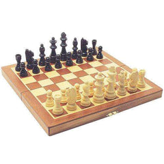 Traditional Wooden Folding Chess Set