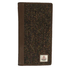 Harris Tweed and Leather Travel Wallet by Macessori, ideal gift for travel lovers.