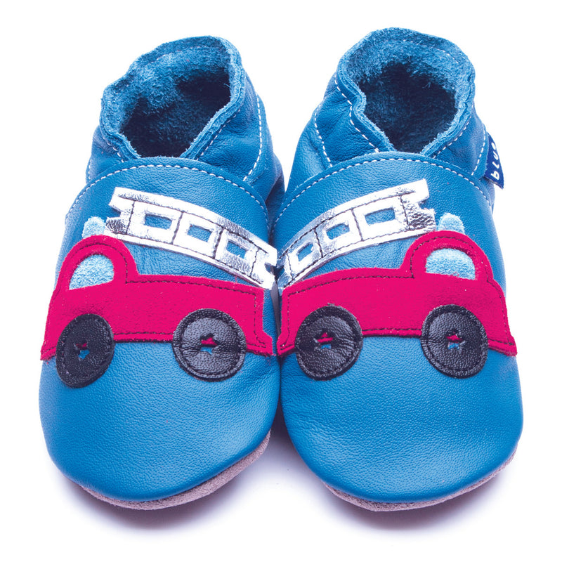 Firetruck Blue/Red Truck Booties