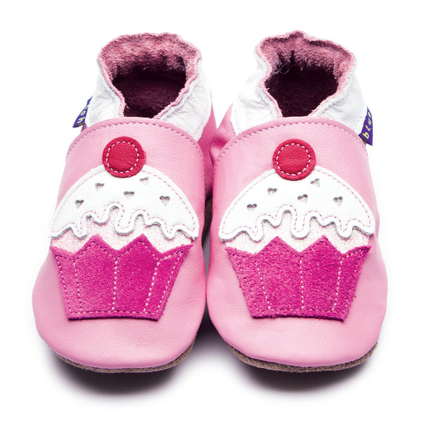 Little Cupcake Baby Pink Booties