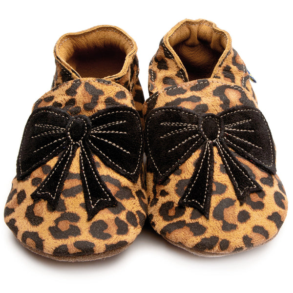 Bow Leopard/Black Booties