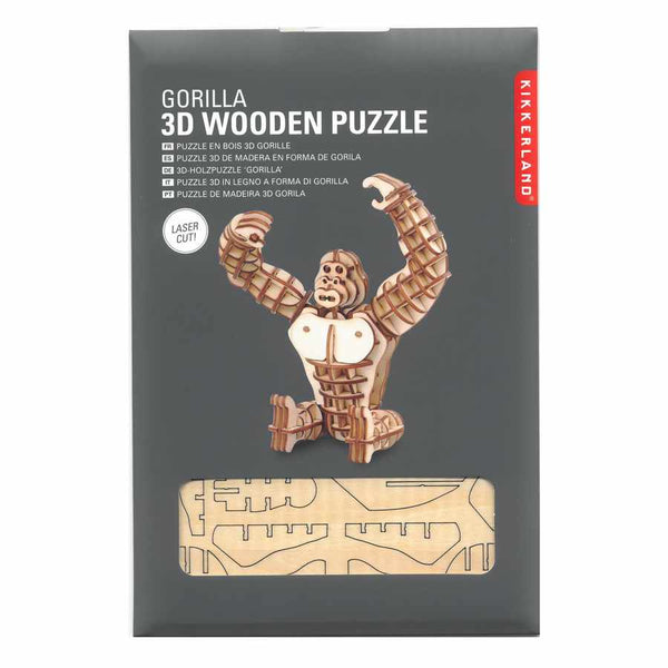 3D Wooden Puzzle Gorilla in package