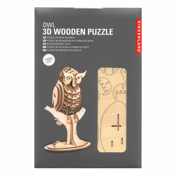3D Wooden Puzzle Owl in package