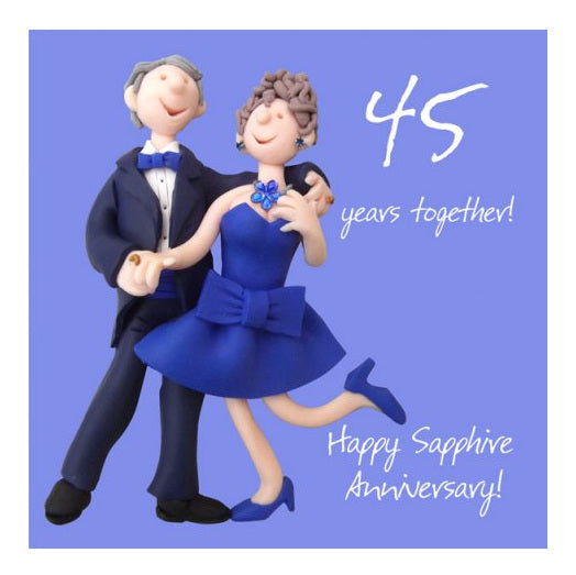 45 Years Together Happy Sapphire Anniversary ESB107