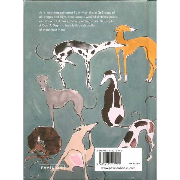 A Dog A Day by Sally Muir back cover