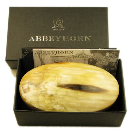 Abbeyhorn Oxhorn Oval Hairbrush HB1B in box