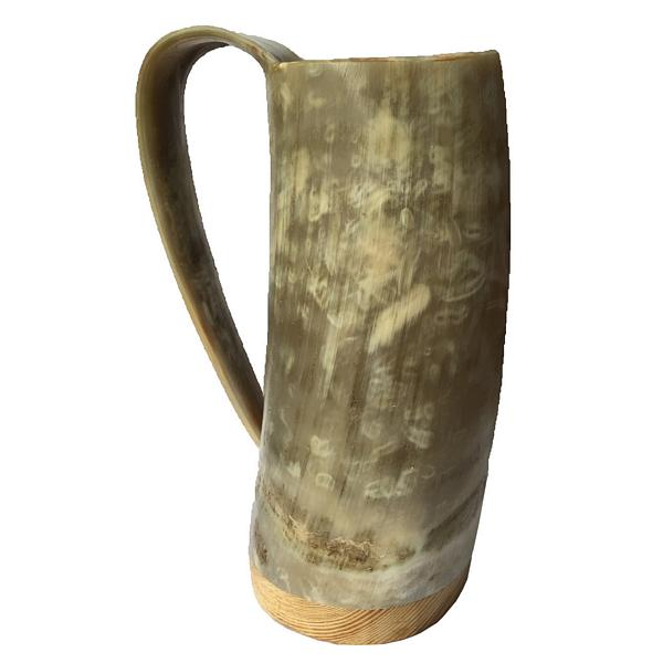 Abbeyhorn Soldier's Horn Mug With Tapered Handle dark
