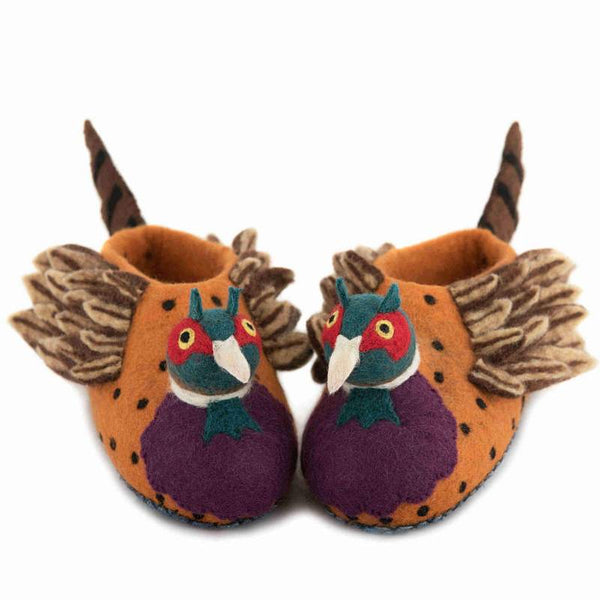 Adult Slippers Freddie the Pheasant - Front