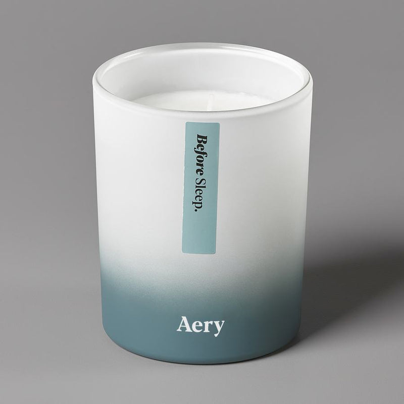 Aery Aromatherapy Scented Candle Before Sleep AE0003 on grey