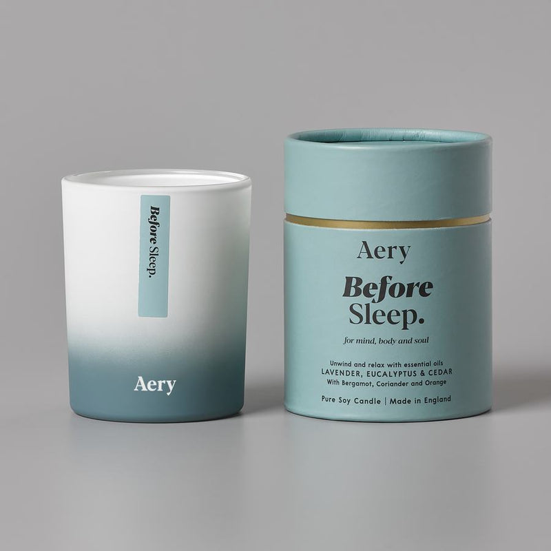 Aery Aromatherapy Scented Candle Before Sleep AE0003 with box