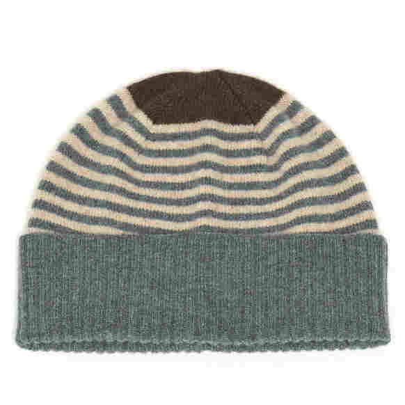 Alan Santry Knitwear Lourdes Hat Green H704 02