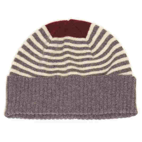Alan Santry Knitwear Lourdes Hat Red H704 01