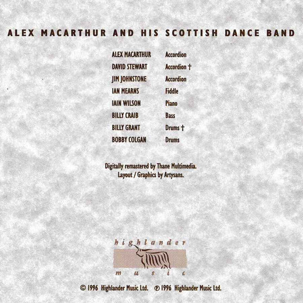 Alex MacArthur & His Scottish Dance Band - Old Masters Volume 1 CD booklet inside