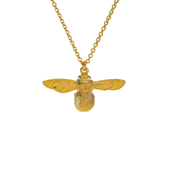 Alex Monroe Baby Bee Necklace Gold Plated BBN1-GP front