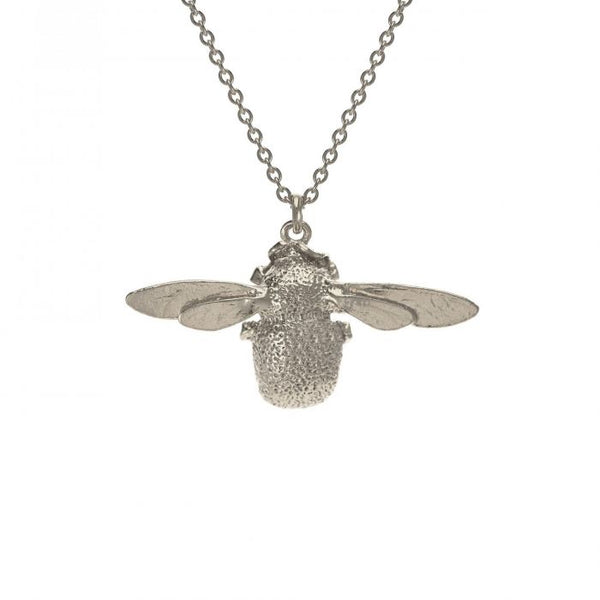 Alex Monroe Bumblebee Necklace Silver OSN1-S front