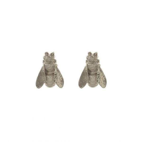 Alex Monroe Honey Bee Stud Earrings Silver DBE5-S main