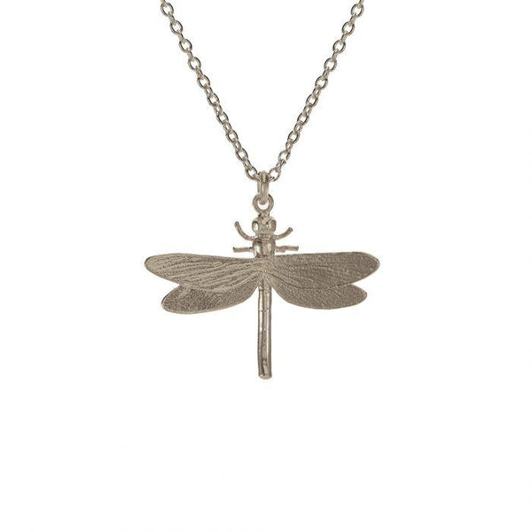 Alex Monroe Jewellery Dragonfly Necklace Silver MGN10-S front