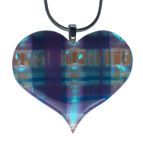 Iona Tartan Heart Pendant Necklace