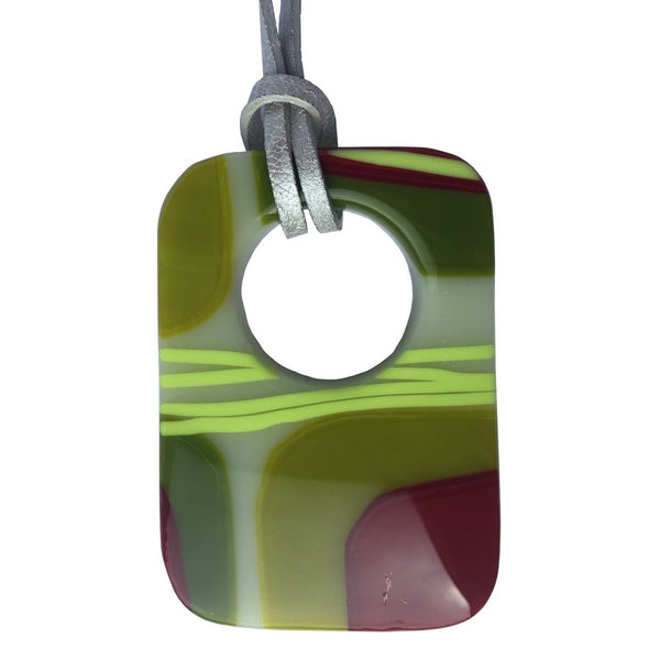 Alicia MacInnes Fused Glass Jewellery Spring Green Pendant Necklace main