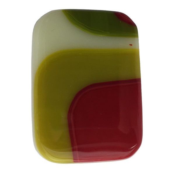 Alicia MacInnes Fused Glass Jewellery Spring Green Rectangular Ring front