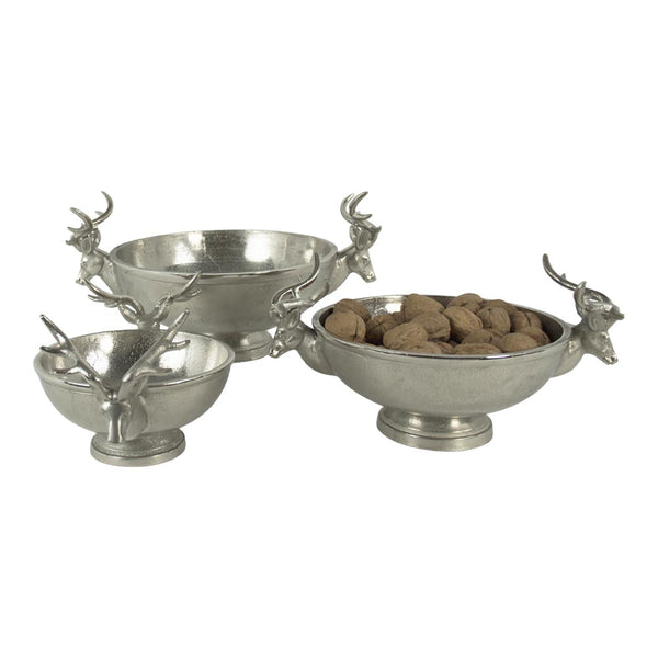 Aluminium Deer Stag Bowls - 3 sizes