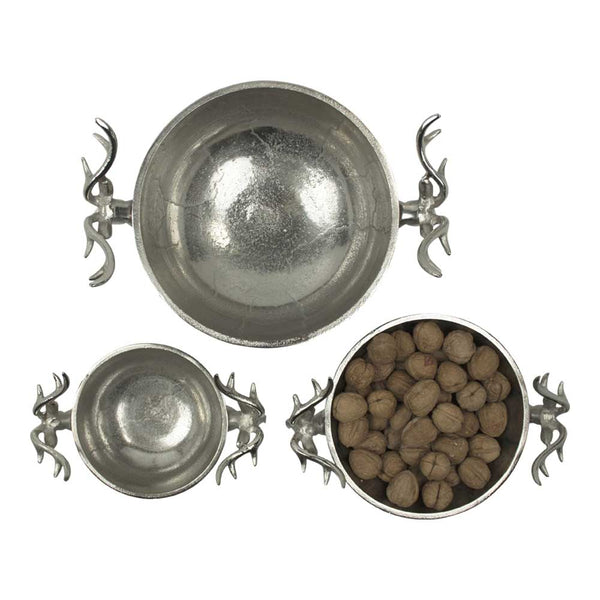 Aluminium Deer Stag Bowls - 3 sizes from above