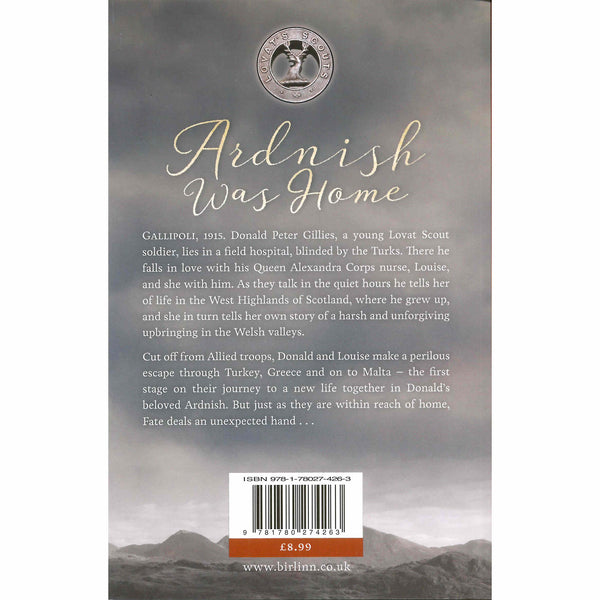 Angus MacDonald - Ardnish Was Home  (A Novel) back cover