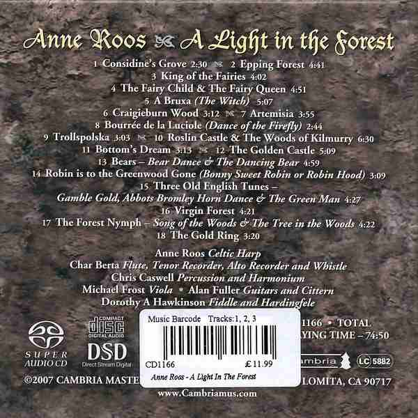 Anne Roos - A Light In The Forest CD back cover