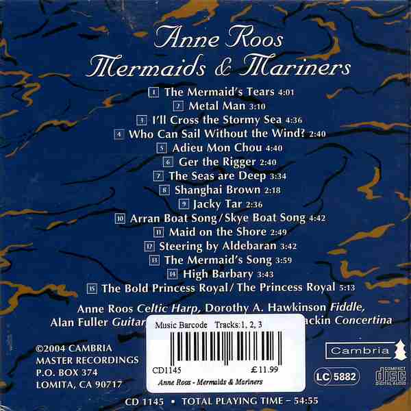 Anne Roos - Mermaids & Mariners CD back cover