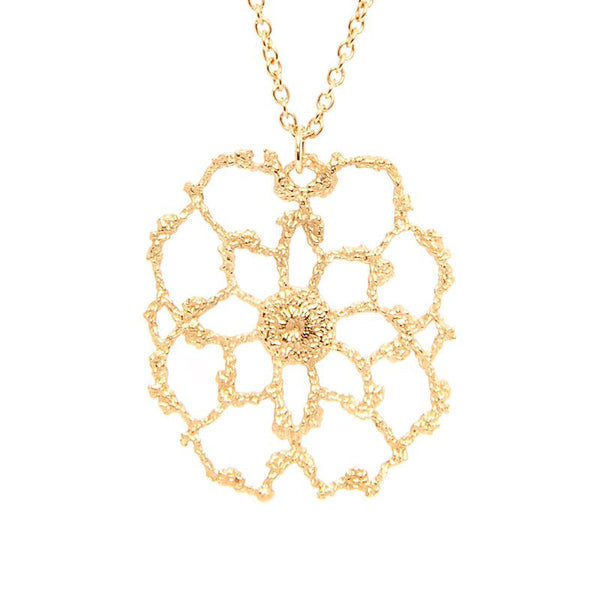 I Love A Lassie Jewellery Antique Lace Yellow Gold Cobweb Necklace