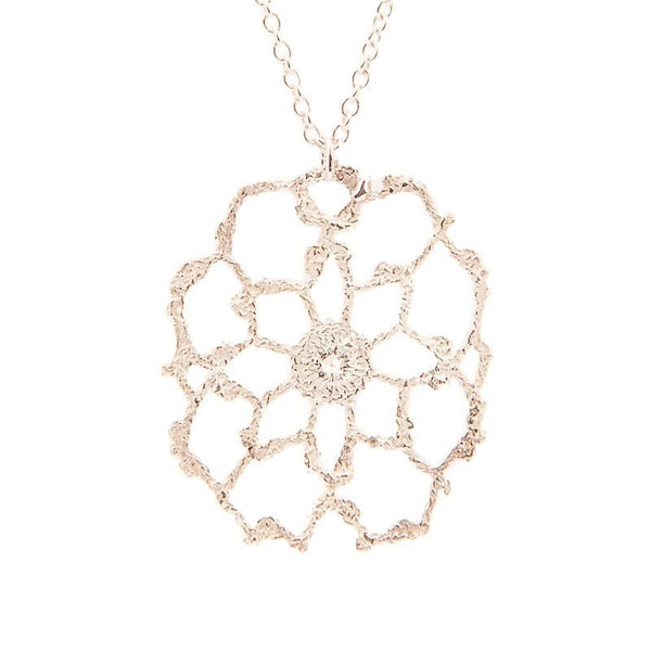 I Love A Lassie Jewellery Antique Lace Sterling Silver Cobweb Necklace