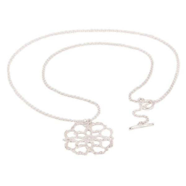 Antique Lace Silver Cobweb Necklace with chain