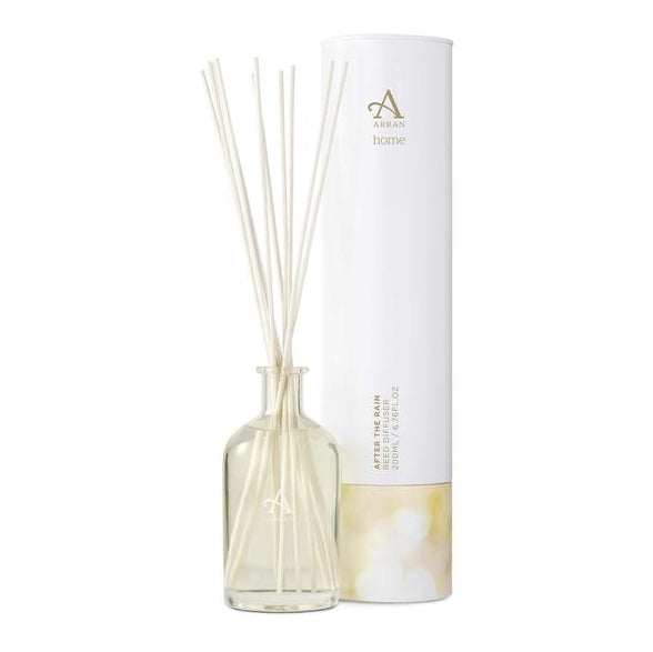 Arran Aromatics After the Rain Reed Diffuser HOM004 bottle with tin