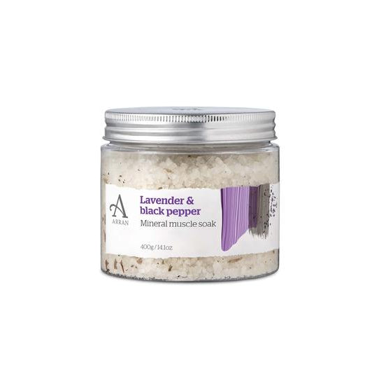 Arran Aromatics Formulas Lavender & Black Pepper Mineral Muscle Soak FOR005