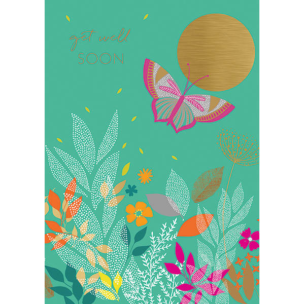 Butterfly Get Well Soon Card