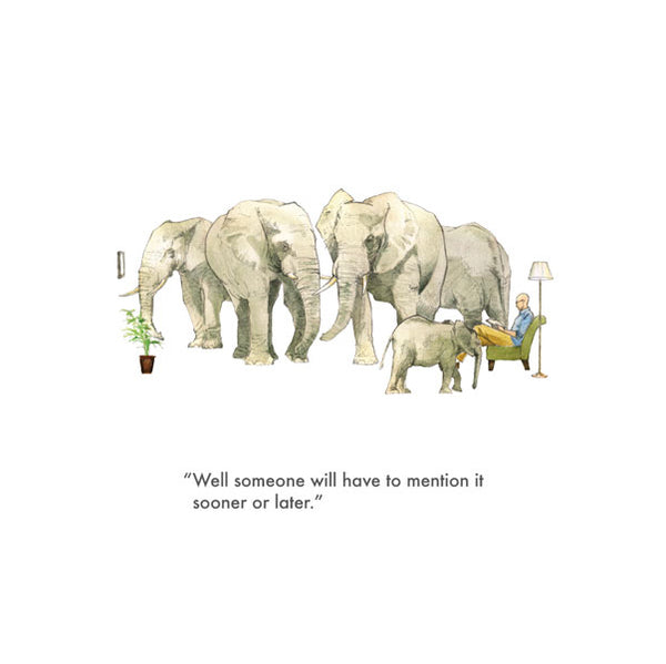 Elephant In The Room Card