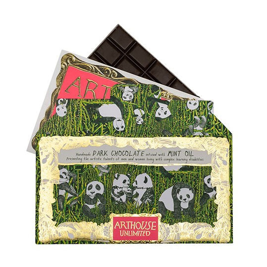 ArtHouse Panda Party Handmade Dark Chocolate with Mint Oil main