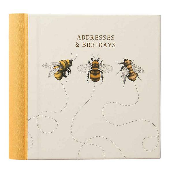 Art File Addresses & Bee-Days Book front