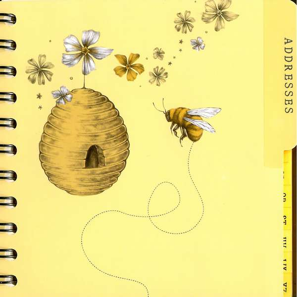 Art File Addresses & Bee-Days Book inside