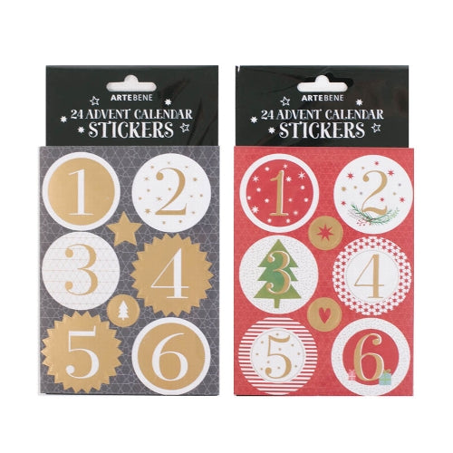 Artebene 24 Advent Calendar Stickers 151867