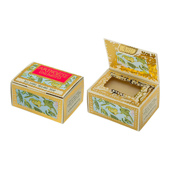 Arthouse Unlimited Turtles Design Organic Soap open and closed box