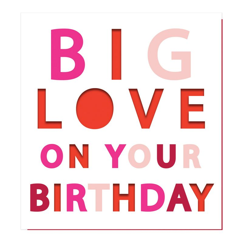 Big Love On Your Birthday card PUN005