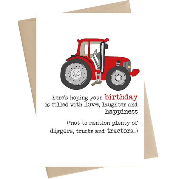 Birthday Tractor Card