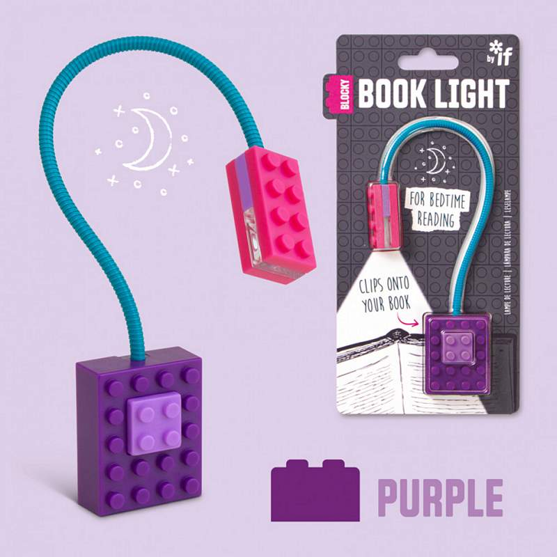 Blocky Book Light Pink & Purple with packaging