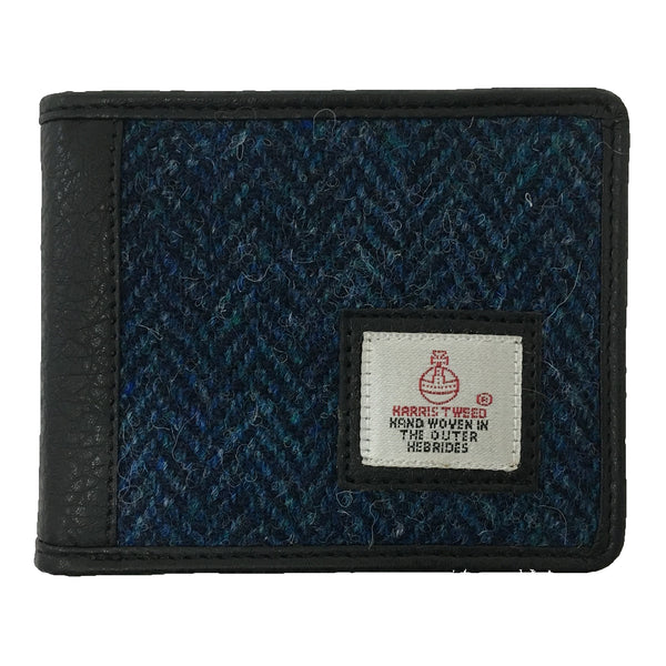 Bifold Wallet Blue Harris Tweed