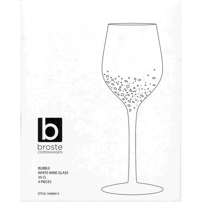 boxed set of four bubble wine glasses