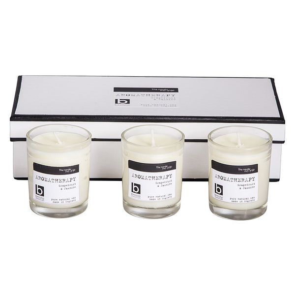 Broste Copenhagen Candle Box With 3 Candles: Grapefruit & Jasmine