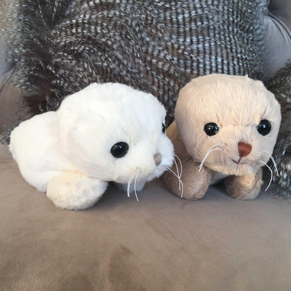 Bukowski Bears - Soft Toy Seals - Sweet Hoover & Herb on sofa