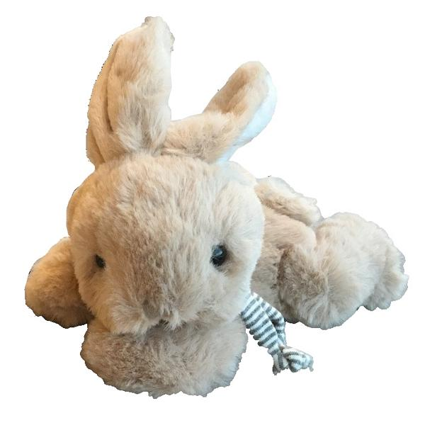 Bukowski Brown Toy Rabbit with scarf Buster side